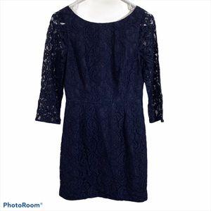 J. Crew Navy Blue Lace Dress sz 6